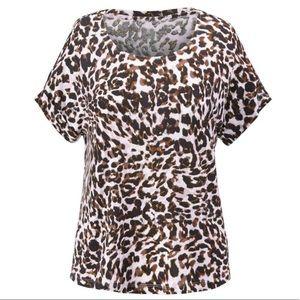 Cabi NEW leopard print tee sz M